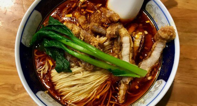 支那麺はしご赤坂店の排骨酸紅麺の大辛