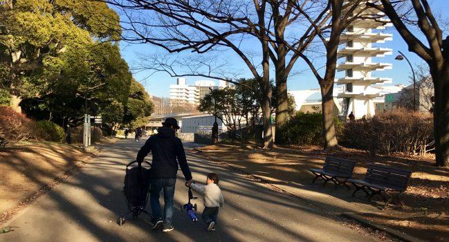 週末。駒沢公園