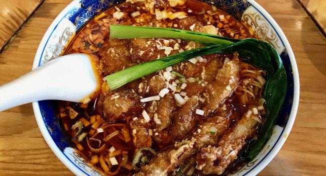 支那麺はしごの排骨酸紅麺