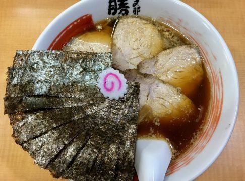 支那そば勝丸の魚介スープ