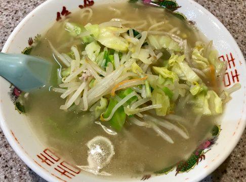 ラーメン王・後楽本舗・渋谷の麺定食(タンメン)