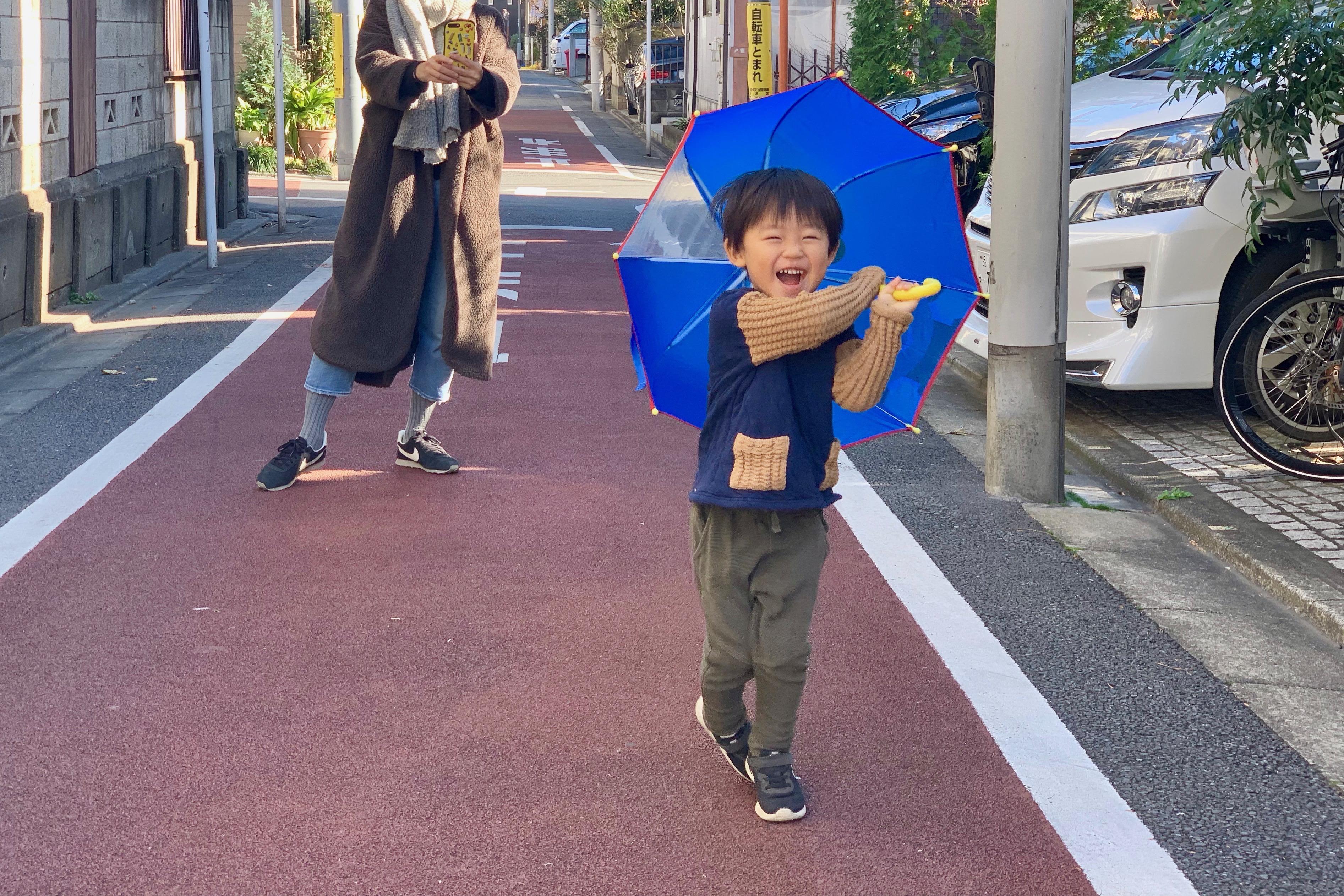 ちょっと残念なトーマスの傘
