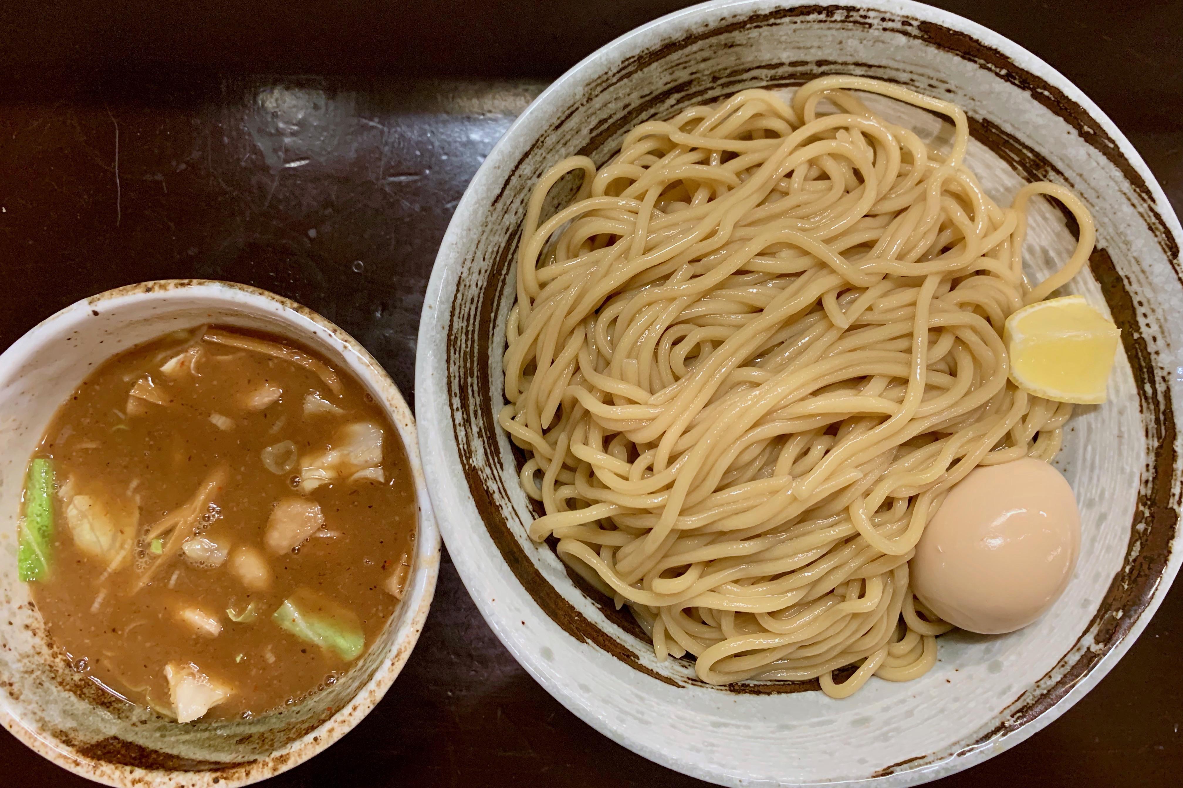 づゅる麺池田の味玉つけ麺