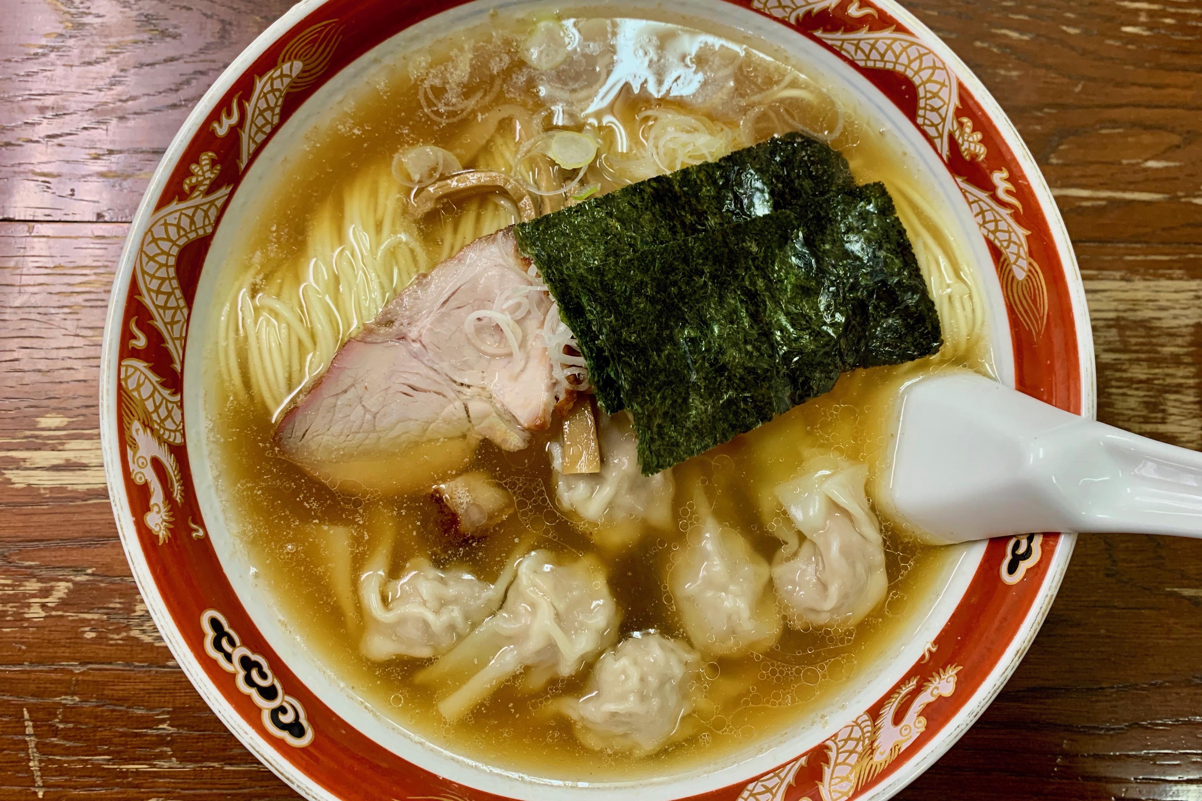 かづ屋・目黒のワンタン麺