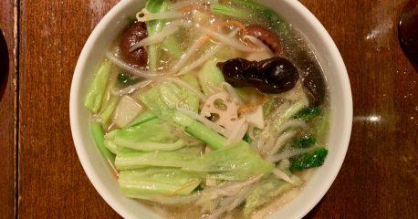 豆金餃子・学芸大学店の湯麺