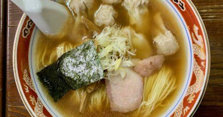 季節外れの雪の日・目黒のかづ屋のワンタン麺