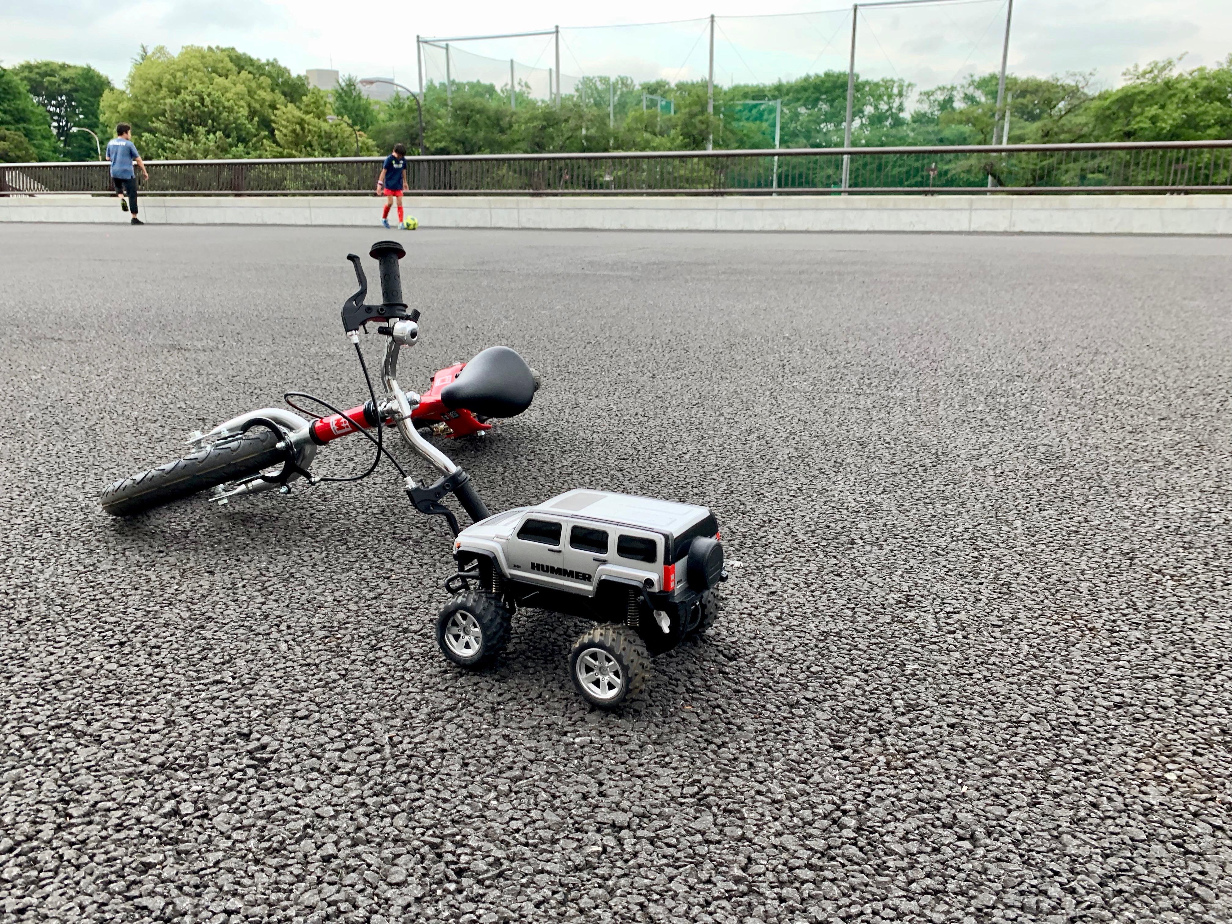 八雲図書館での紙芝居〜駒沢公園でのhenshin bike