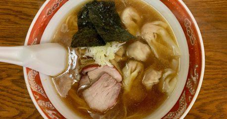 目黒のかづ屋のワンタン麺