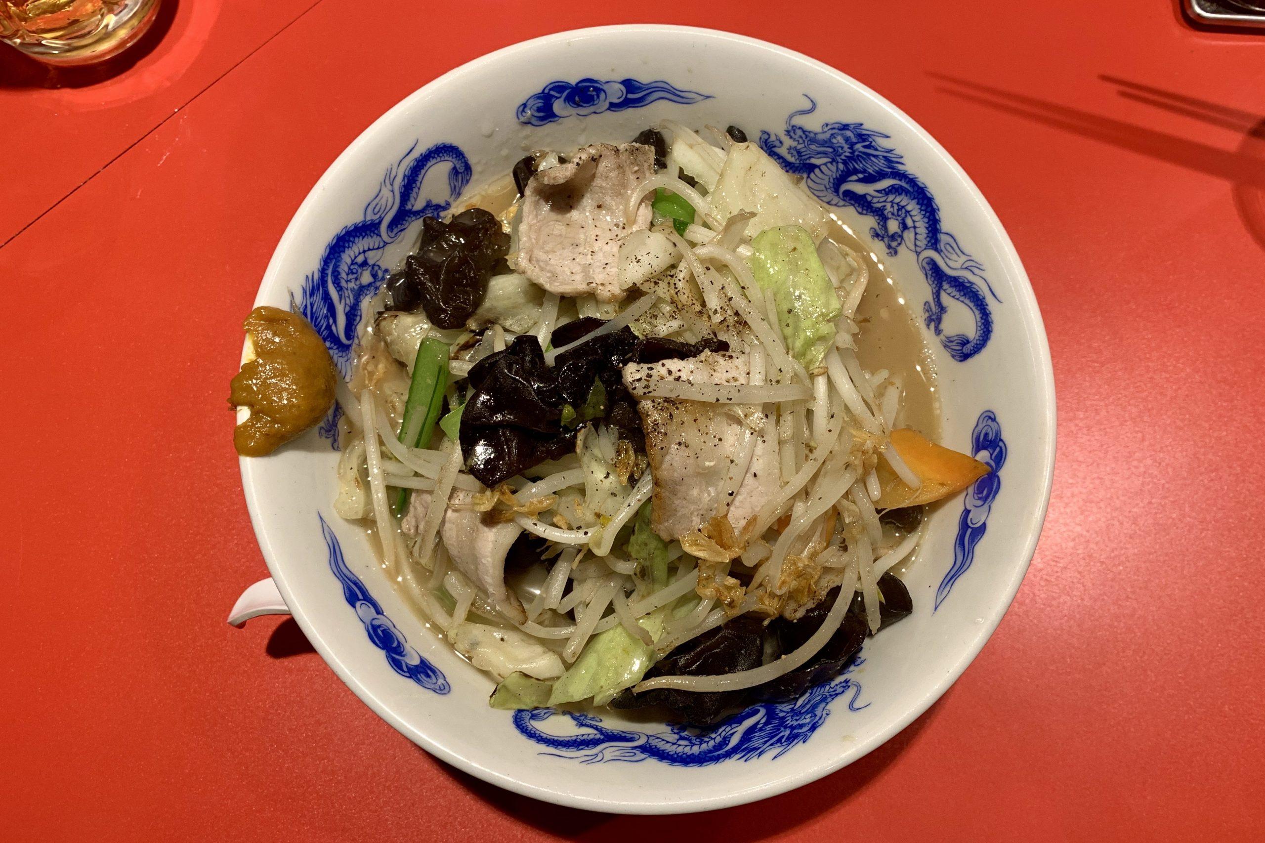恵比寿の大龍軒の特製ちゃんタンメン