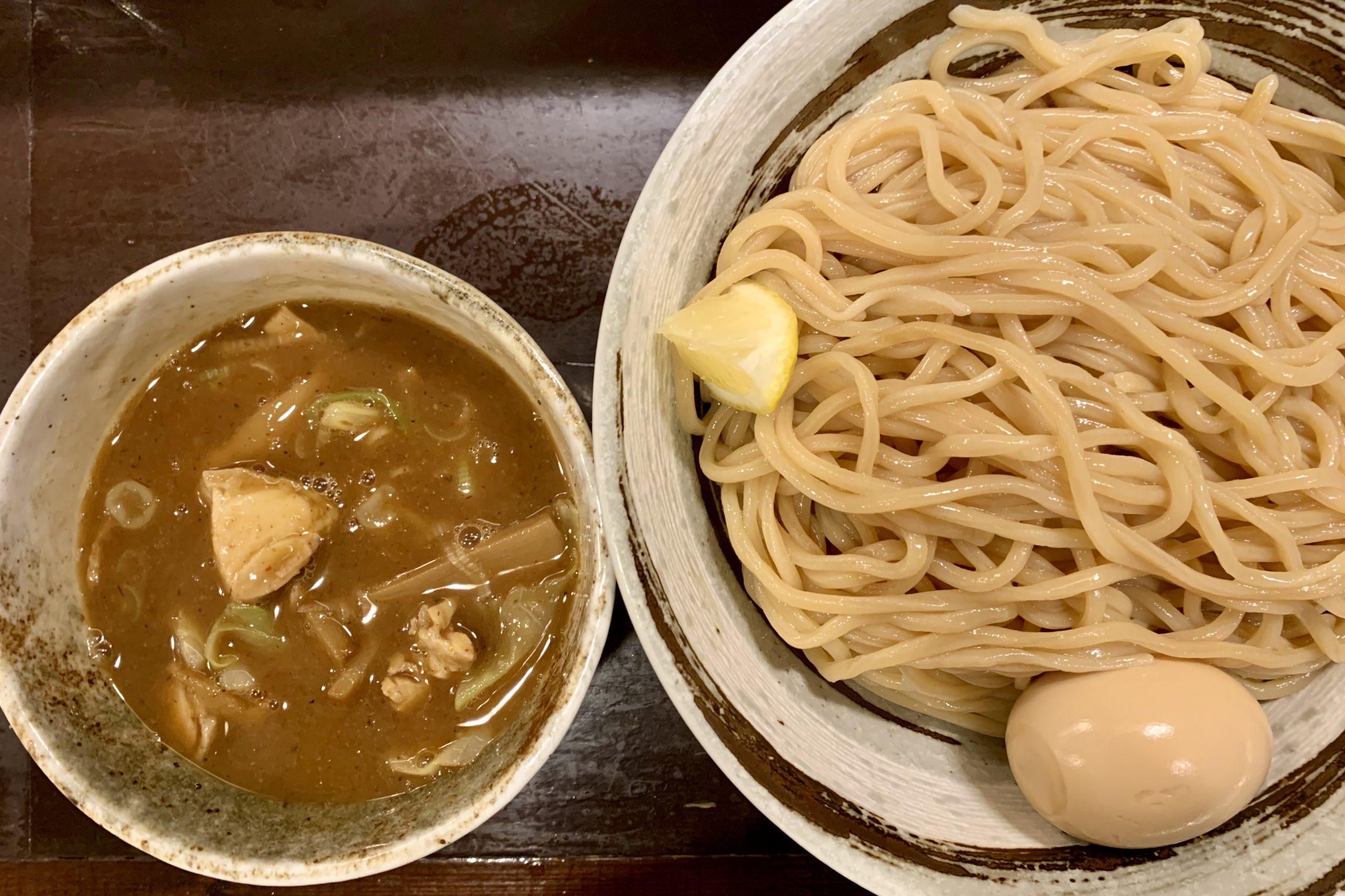 目黒のづゅる麺池田の味玉つけ麺