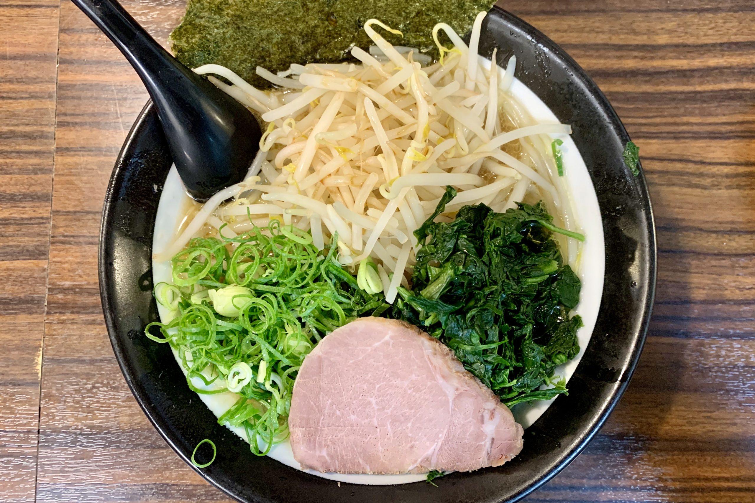 ナカメの極楽汁麺・百麺の太麺野菜3点盛り