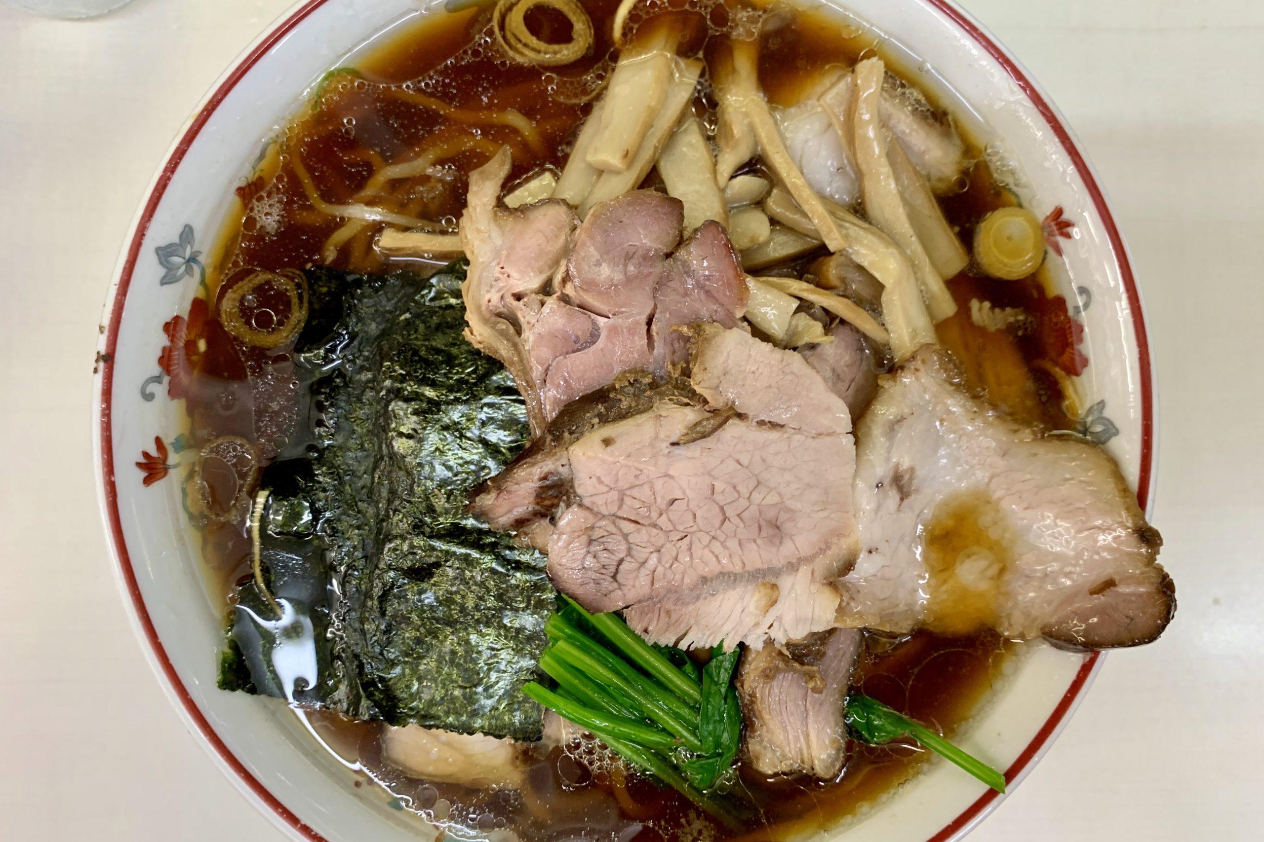 アキバの青島食堂の焼豚大メンマ50+焼豚50