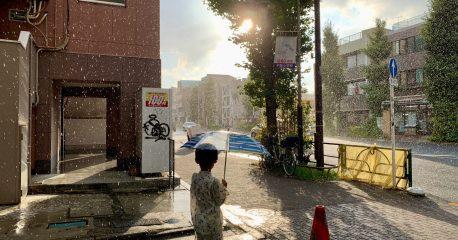 新型コロナな日々47(雨上がりのお祭り)
